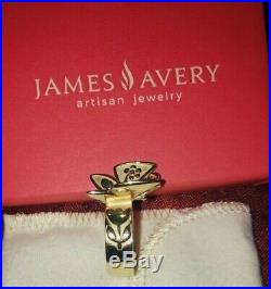 James Avery 14K Gold Mariposa Ring Rare & Retired Butterfly Size 8