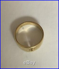 James Avery 14K Gold Narrow Crosslet Cross Ring sz 7 585