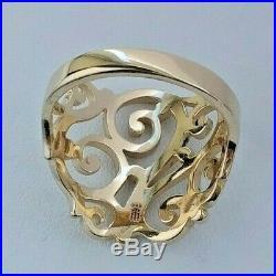James Avery 14K Gold Open Sorrento Ring Size 9.5