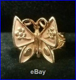 James Avery 14K Gold Retired Mariposa (Butterfly) Ring