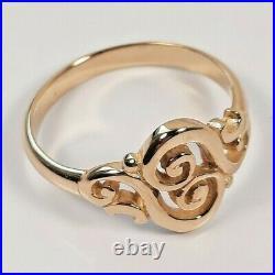 James Avery 14K Gold Spanish Swirl Ring Size 5
