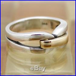 James Avery 14K Gold & Sterling Silver Enduring Bond Ring Size 8, 8.2 grams