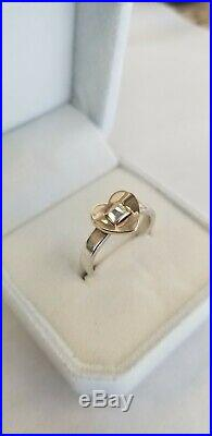 James Avery 14K Gold & Sterling Silver Heart Ring Size 7.5 VERY RARE