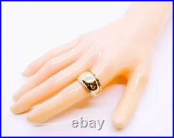 James Avery 14K Solid Yellow Gold 13mm Thick Polished Cigar Dome Ring Band s 8.5