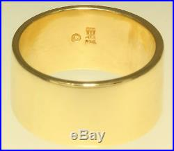 James Avery 14K Solid Yellow Gold Cross Ring Size 9