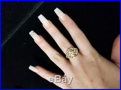 James Avery 14K Spanish Lace Ring with Lab-Created White Sapphire