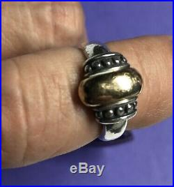 James Avery 14K / Sterling Silver 925 Bead Ring Size 7