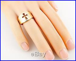 James Avery 14K Wide Crosslet Ring Size 6