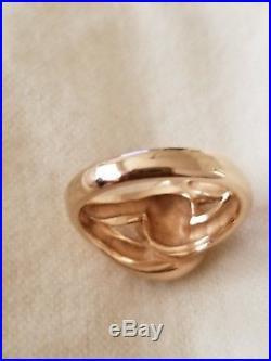 James Avery 14K Yellow Gold Cadena Ring Size 8