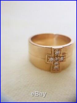 James Avery 14K Yellow Gold & DIAMOND Cross Ring