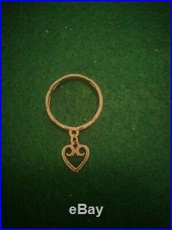 James Avery 14K Yellow Gold Dangle Ring (heart), Size 8