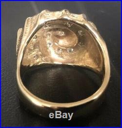 James Avery 14K Yellow Gold & Diamonds Conch Shell Ring Size 7