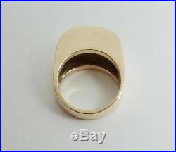 James Avery 14K Yellow Gold Engravable Dome Signet Ring Sz 6-1/2 RETIRED 13.7 Gr