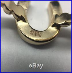 James Avery 14K Yellow Gold Horseshoe Twisted Wire Ring Size 8