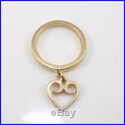 James Avery 14K Yellow Gold Size Dangle Heart Love Ring 3.5 LFJ3