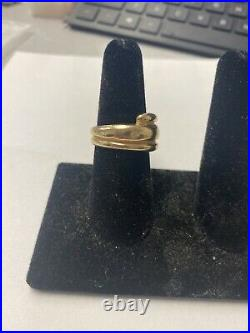 James Avery 14K Yellow Gold Triple Dome Wrap Around Ring Size 8 Heavy 16g