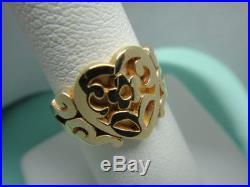 James Avery 14K solid gold open scrolled heart ring, size 6, little wear -j06
