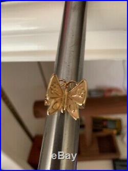 James Avery 14Kt Yellow Gold Mariposa Ring & Retired Butterfly Heaviest On Ebay