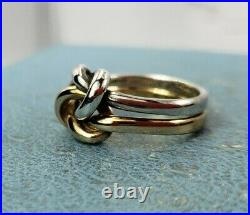 James Avery 14k & 925 Lovers Knot Ring Sz5.5 excellent Condition