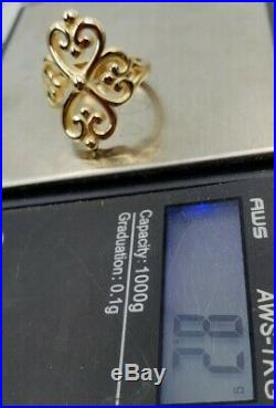 James Avery 14k Adorned Hearts Ring Sz7 Mint Condition