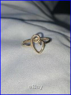 James Avery 14k Gold Delicate Mothers Love Ring size 6.75