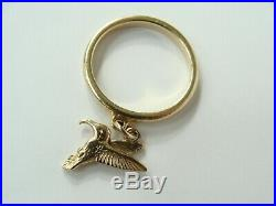 James Avery 14k Gold Hummingbird Dangle Ring size 6