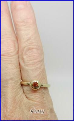 James Avery 14k Gold Remembrance Ring With Citrine Size 9 Lb3180
