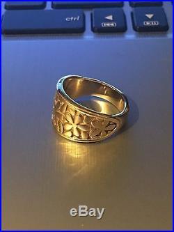 James Avery 14k Gold Retired Spring Blossom Ring Sz 8 (Plz Read Description)
