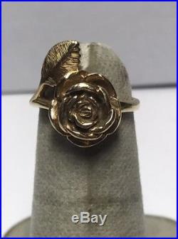 James Avery 14k Gold Rose Ring Sz. 3.5 L