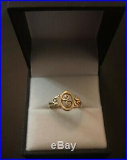 James Avery 14k Gold Spanish Swirl Ring Size 5.5