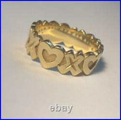 James Avery 14k Hugs And Kisses Gold Ring Size 7