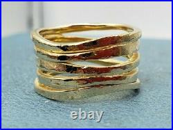 James Avery 14k Stacked Hammered Ring Sz7