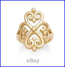 James Avery 14k Yellow Gold Adorned Hearts Ring 8.5 Mint Condition