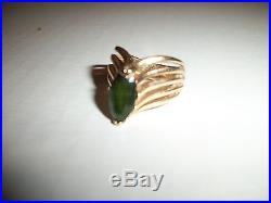 James Avery 14k Yellow Gold And Emerald Ring Beautiful Design Not Scrap
