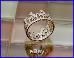 James Avery 14k Yellow Gold Boy & Girl School Ring, Size 7, 4.5 Grams RETIRED