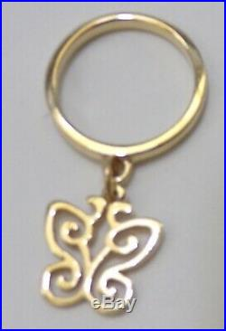 James Avery 14k Yellow Gold Butterfly Dangle Band Ring Pinky Or Knuckle