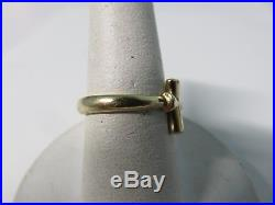 James Avery 14k Yellow Gold Cross Ring Size 6