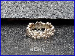 James Avery 14k Yellow Gold Flower Ring Size 4