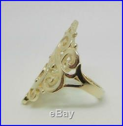 James Avery 14k Yellow Gold Long Sorrento Ring Size 8 Lb3095