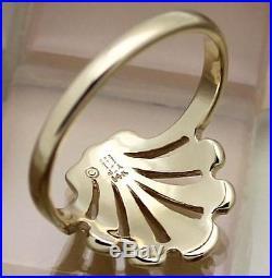 James Avery 14k Yellow Gold Open Seashell Ring Size 9, 4.3 Grams, RETIRED