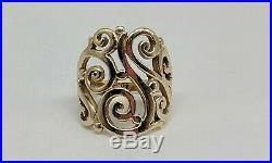 James Avery 14k Yellow Gold Open Sorrento Swirl Ring Size 7.25 FREE SHIPPING