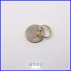 James Avery 14k Yellow Gold Ring Spanish Swirl Scrolled Size 4.5 LHA2