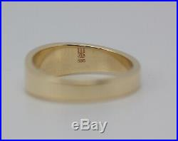 James Avery 14k Yellow Gold Small Cross Crosslet Design Ring Size 5
