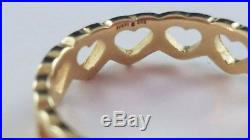 James Avery 14k Yellow Gold Tiny Hearts Ring Size 6 FREE SHIPPING