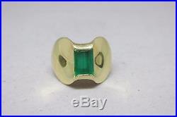 James Avery 14k Yellow Gold Vasar Emerald Monaco Ring Size 7 Rare Retired