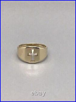 James Avery 14k Yellow Gold Wide Crosslet Ring Size 9