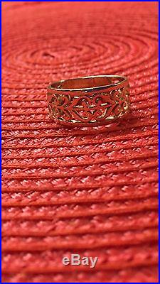 James Avery 14k open adorned ring size 8.5