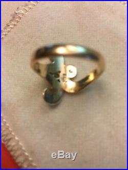 James Avery 14kt Retired Scroll Ring