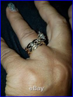James Avery 14kt Yellow Gold Engagement Ring n Band