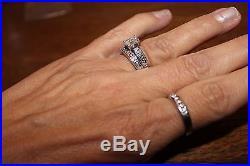James Avery 18K White Debra Diamond Ring Sz 8